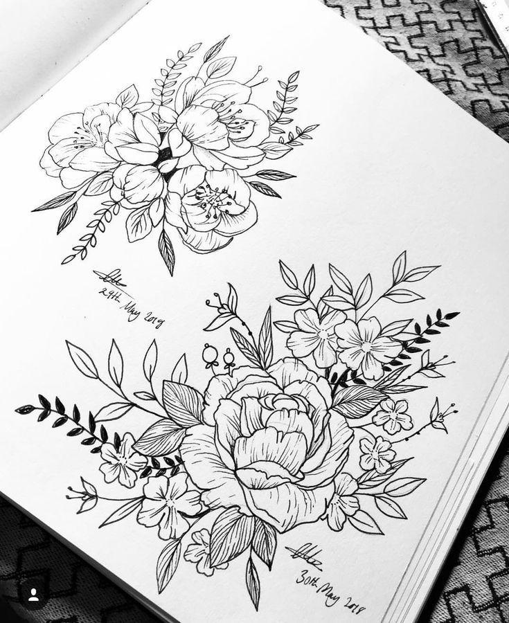 blumen deko tattoo designs tattoo drawings tattoos
