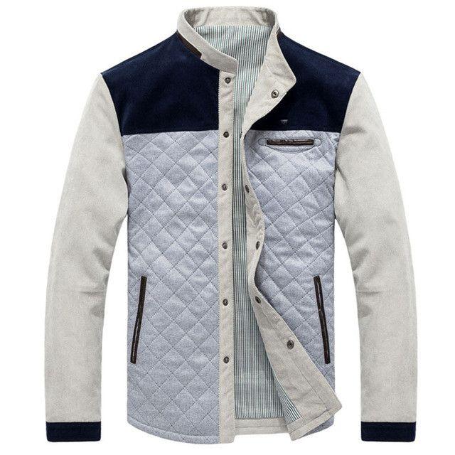 Fashion Brand Warm Men's Jackets Blue Grey Jackets