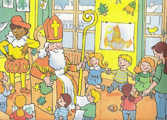 Praatplaat Sinterklaas. Kijk ernaar en praat erover