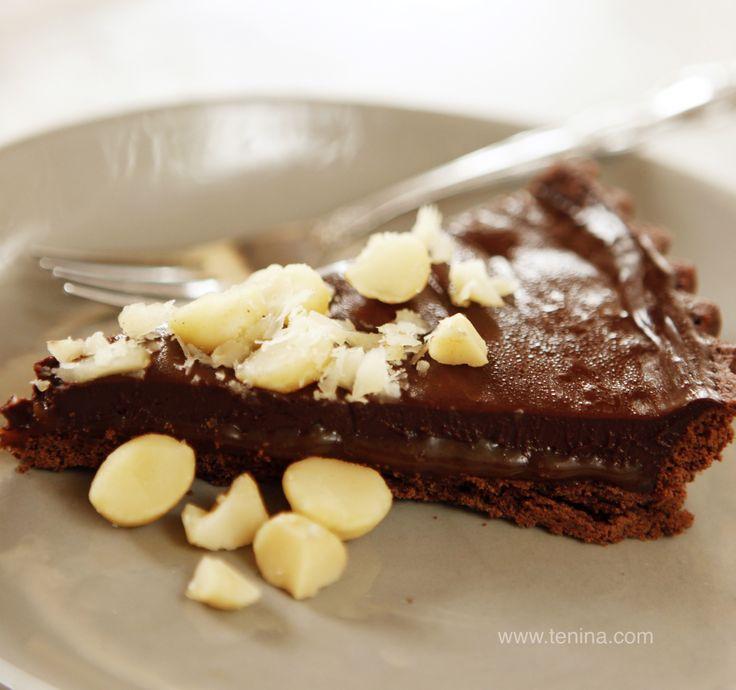 Thermomix recipe: Salted Caramel Chocolate Tart · Tenina.com