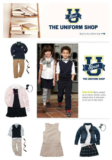 (sponsored) The @OshKosh B'gosh Uniform shop brings style to school uniforms