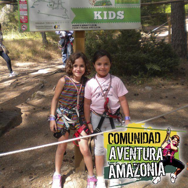 Aventureras en el Parque http://aventura-amazonia.com/ Cercedilla, circuitos multiaventura para TODOS, en plena naturaleza