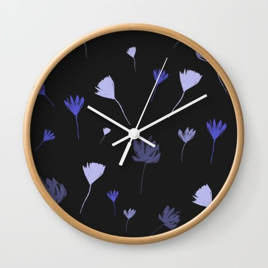 Flowers in the Night I Wall Clock