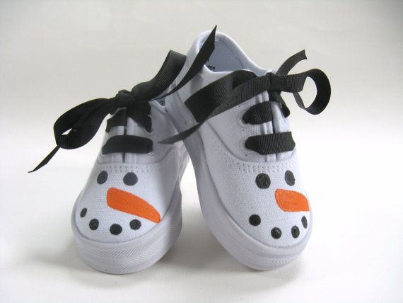 Hey, I found this really awesome Etsy listing at https://www.etsy.com/listing/163600805/girls-snowman-shoes-baby-and-toddler