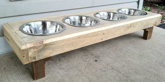 Hey, I found this really awesome Etsy listing at https://www.etsy.com/listing/159313376/raised-dog-bowl-stand-made-from