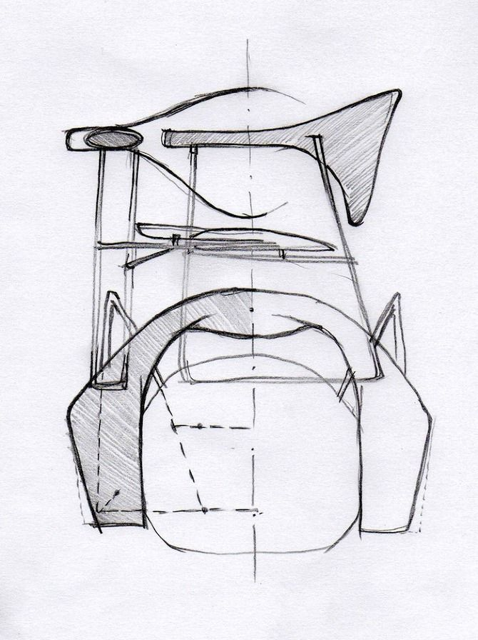 GUBI // Drawings of the Masculo chair