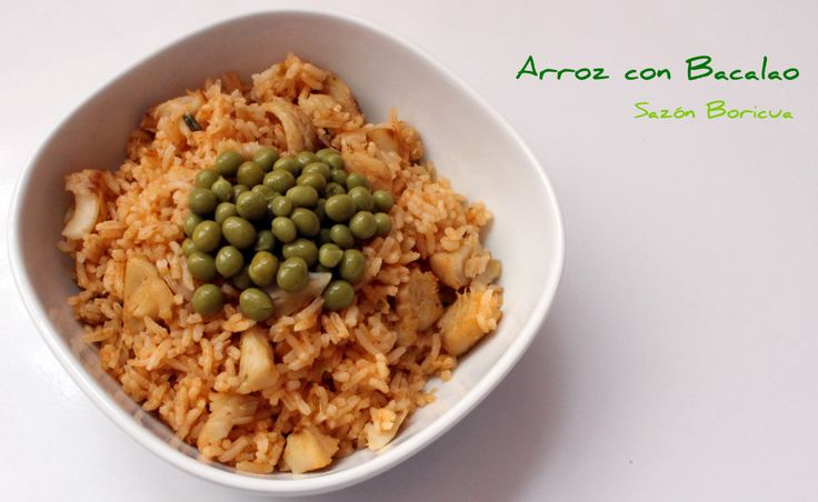 17 best images about carnes aves mariscos - Arroz blanco con bacalao ...