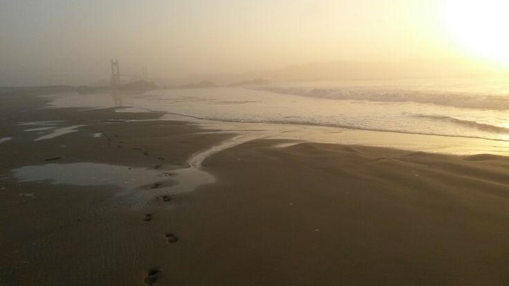 Mazeppa Bay Beach at sunset