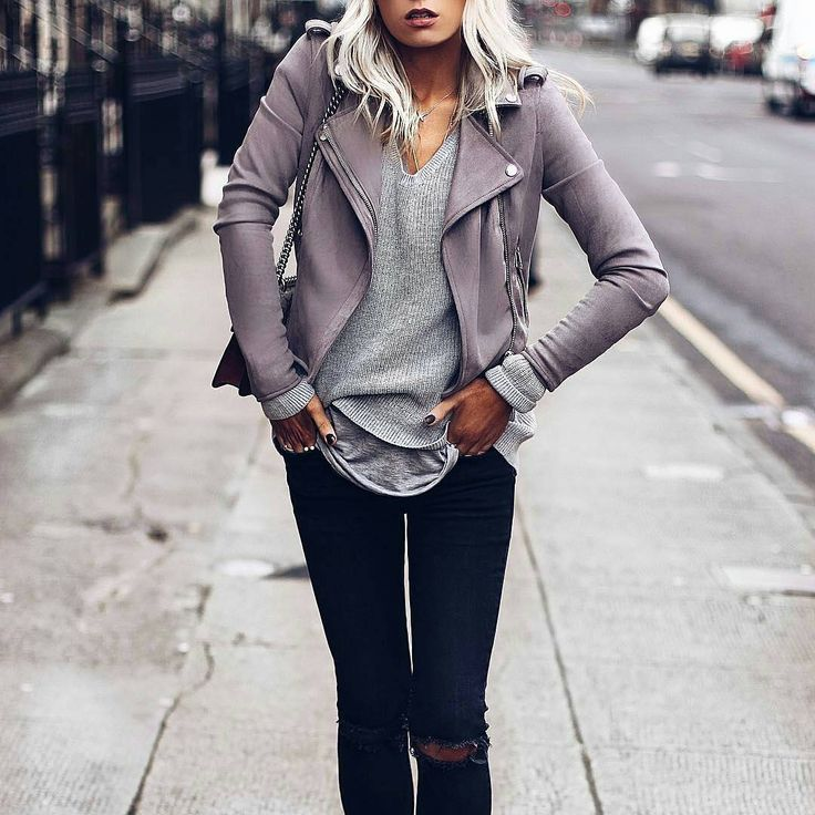 """773 Likes, 3 Comments - Lookastic (@lookastic) on Instagram: """"Fashion blogger @lucyflorals doing a great job of layering #fblogger #leatherjacket"""""""