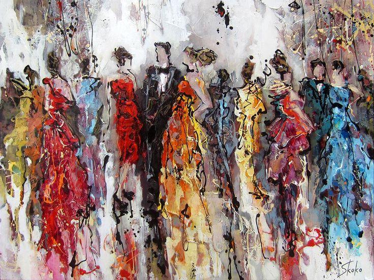 Black tie par Skoko, artiste présentement exposée aux Galeries Beauchamp. www.galeriebeauchamp.com
