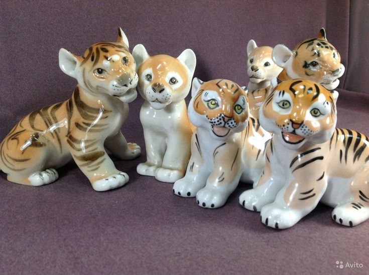 <b>Статуэтка</b>. Львенок, тигренок. Фигурки животных. <b>Лев</b>, <b>тигр</b>. ЛФЗ ...