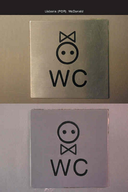 Toilet icons. Photo by mara codalli