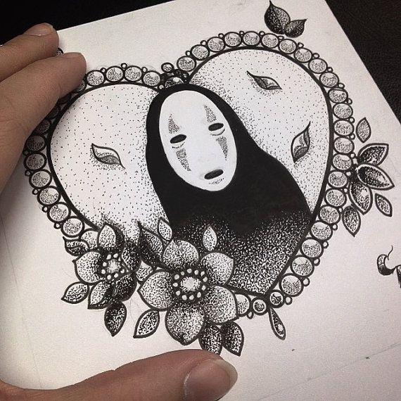 Dotwork No Face Print by Charlotte Ann by CharlotteAnnHarris