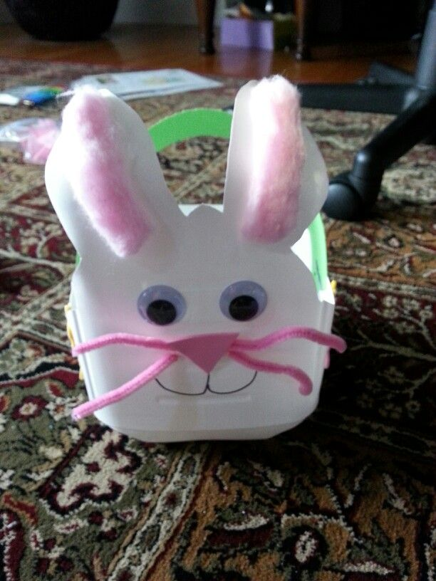 Happy easter bunny milk carton crafthubs 139 best images about easter basket ideas on pinterest negle Choice Image