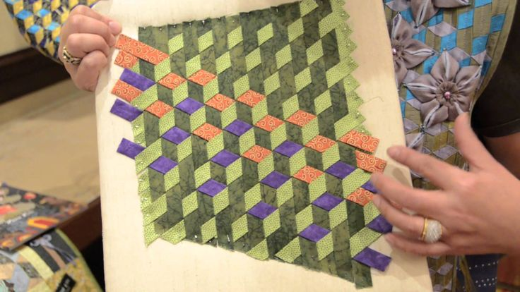Ever thought about weaving a quilt? Here are a couple ...