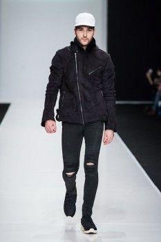 Молодежная мужская дубленка-косуха для зимы 2016-2017