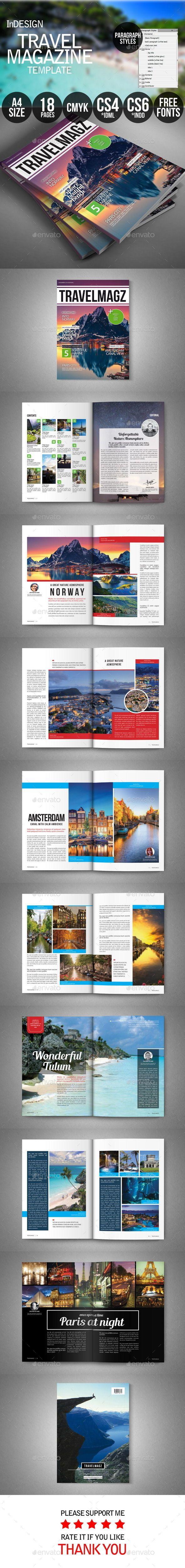 Travel Magazine Template | Download: http://graphicriver.net/item/travel-magazine/9721353?ref=ksioks