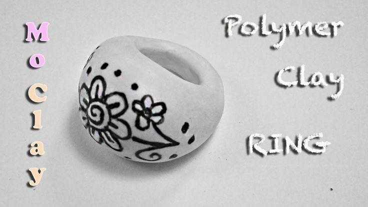DIY Polymer Clay Tutorial. Drawn Ring by MoClay - Arcilla polimérica Anillo - Argilla polimerica Anello