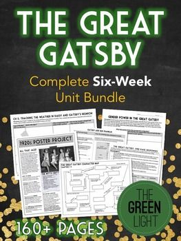 If you're teaching F. Scott Fitzgerald's novel, The Great Gatsby, you need this massive bundle, with more than 100 files and 160+ pages!Here's what's included: Quizzes and answer keys for every chapter of the novel 1920s research project (with samples!) Close reading activities Interactive activities Anticipation guide Essay assignments Short writing prompts Common Core Unit Map Sample pacing calendar with daily aims Character Map fill-in activity Imagery activities Vocabulary assignment…