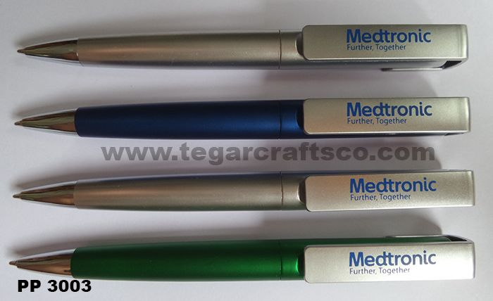 PP3003, a twist plastic pen, available in three different colors