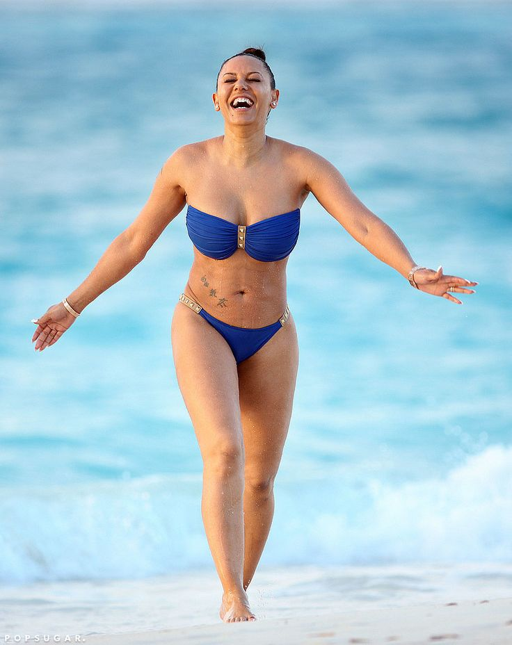 Mel B Bikini Pictures in Turks and Caicos February 2016