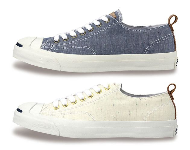 Converse Jack Purcell Sneakers in Chambray Fabric • Selectism