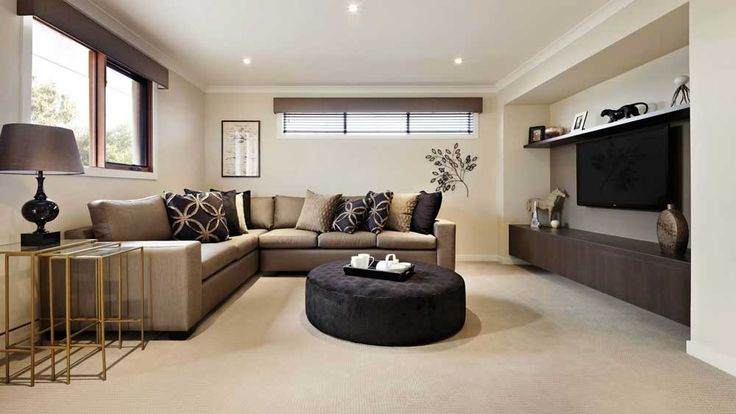 Wall Mount TV Living Room Design Ideas with coffee table