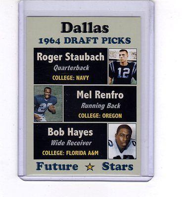 1964-Dallas-Cowboys-Draft-Picks-rookies-Roger-Staubach-Mel-Renfro-Bob-Hayes