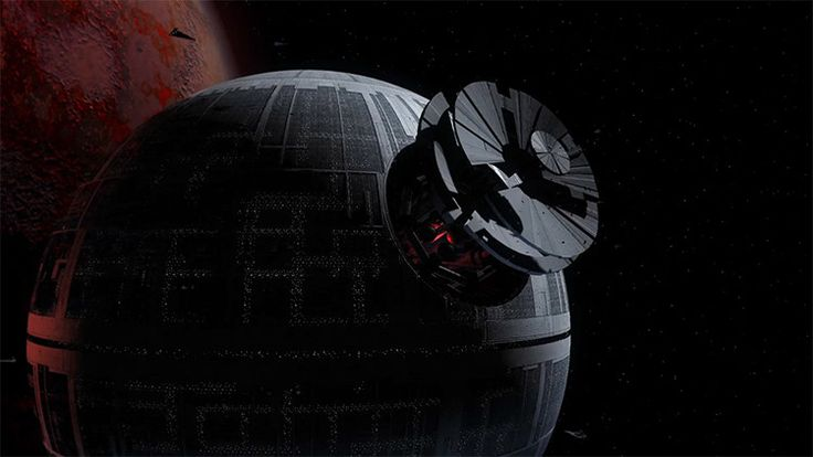 An Incredible Animated Timelapse Showing the Construction Process of the Death Star