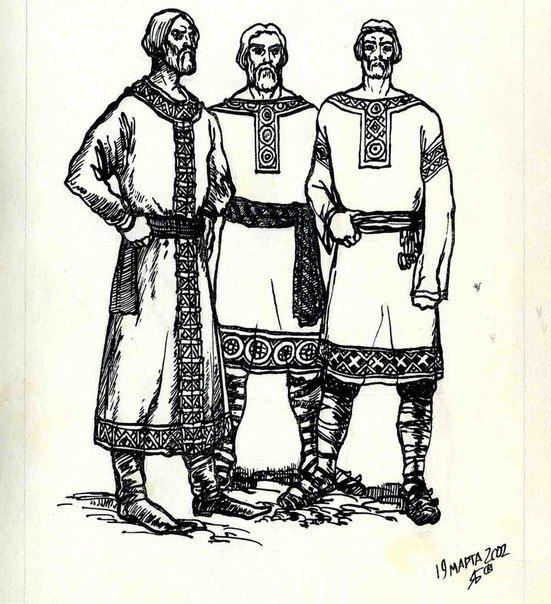 уровни костюм славян в картинках природный материал для
