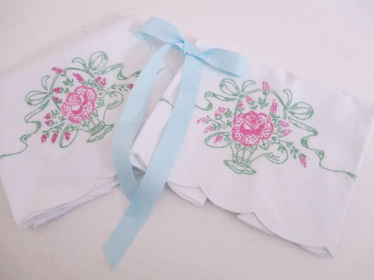 Excited to share the latest addition to my #etsy shop: VINTAGE WHITE PILLOWCASES, cotton with pink and green floral embroidery, standard size, clean vintage condition http://etsy.me/2BBNP8n #housewares #bedroom #bedding #white #pink #cotton #cottonpillowcases #vintagep