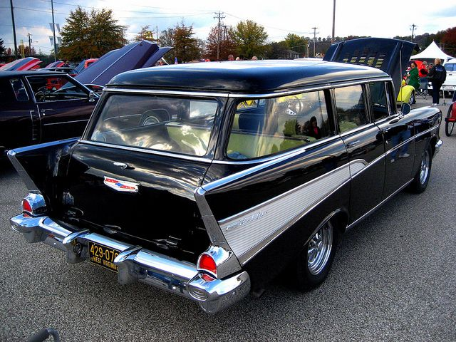 My hubby had a car like this when we were dating - 1957 Chevrolet Belair Wagon vintage nomad