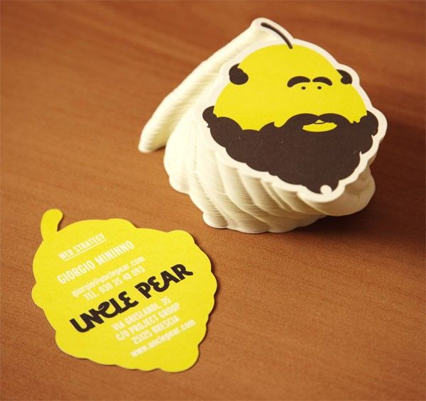 42 best custom shaped business cards images on pinterest business a display of custom shaped business cards for the uncle pear brand colourmoves