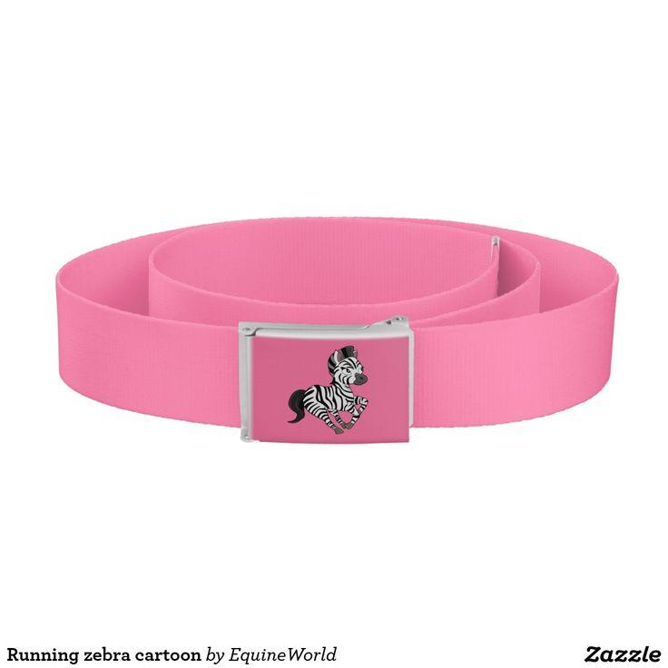Running zebra cartoon belt