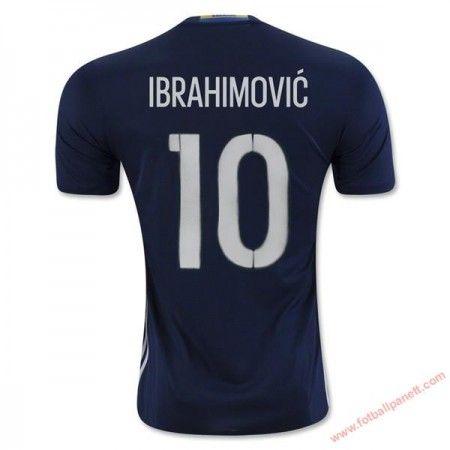 Sverige 2016 Ibrahimovic 10 Bortedrakt Kortermet.  http://www.fotballpanett.com/sverige-2016-ibrahimovic-10-bortedrakt-kortermet-1.  #fotballdrakter