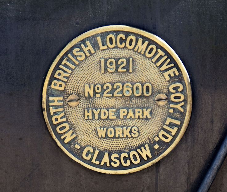 The North British Locomotive Company (NBL, NB Loco or North British) was created in 1903 through the merger of three Glasgow locomotive manufacturing companies; Sharp, Stewart and Company (Atlas Works), Neilson, Reid and Company (Hyde Park Works) and Dübs and Company (Queens Park Works), creating the largest locomotive manufacturing company in Europe and the British Empire. GNR 1744 plate