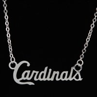 This would be the best gift ever! GO BIRDS! St. Louis Cardinals Silver Script Necklace