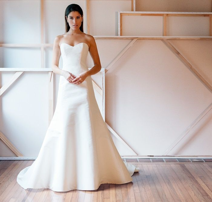 Liancarlo Style 6861 Silk faille empire strapless mermaid gown in Silk White | Bride | Wedding Gown | Wedding Dress