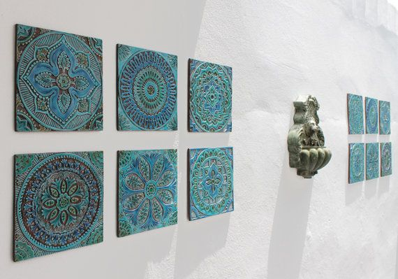 G Vega wall art makes beautiful and striking garden and yard decor. Read our blog to find out how to decorate your garden or yard with handmade ceramic tiles.