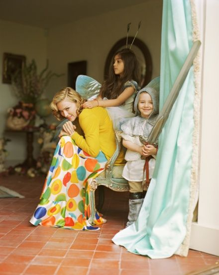 Madonna, Lourdes Leon & Rocco Ritchie,  Wiltshire, UK, 2005  American Vogue by Tim Walker #walker #madonna