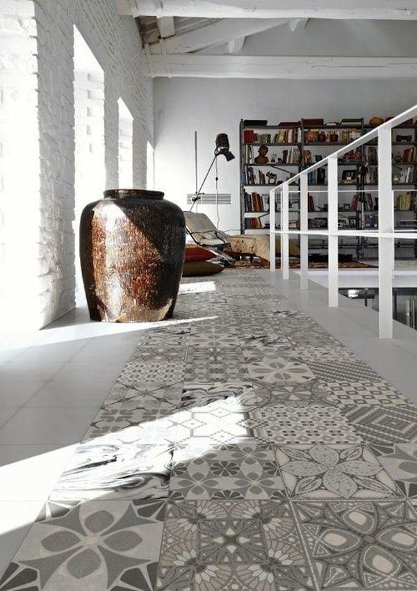 Suelo porcelanico de Porcelanosa imitación baldosa hidráulica