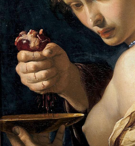 "antsintheafterbirth: ""  "" Bernardino Mei Ghismonda with the heart of Guiscardo (detail) Siena, Pinacoteca nazionale "" """