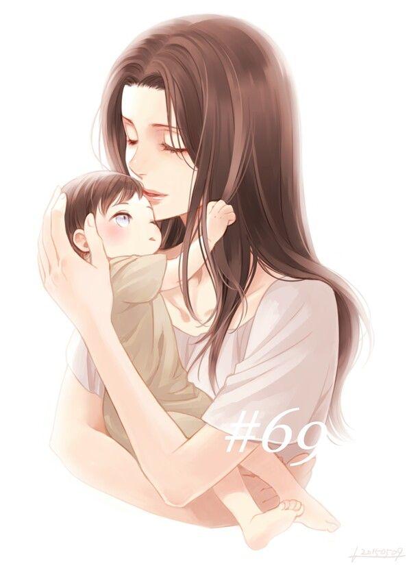 Мама и дочь картинки аниме, дню работников рекламы