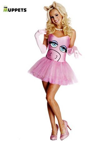 Miss Piggy Sexy Muppets Costume - Womens Muppet Adult Costumes