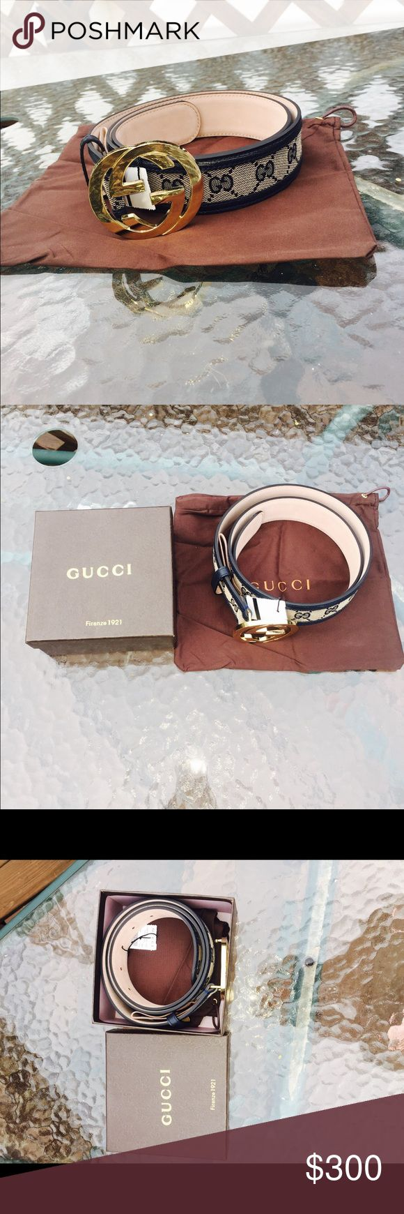 New Gucci belt New Gucci belt authentic. Perfect, I just didn't want it anymore cause I have a different belt. Only been out of the box ONCE. Perfect shape it looks amazing. I bought it for $325 Gucci Accessories Belts