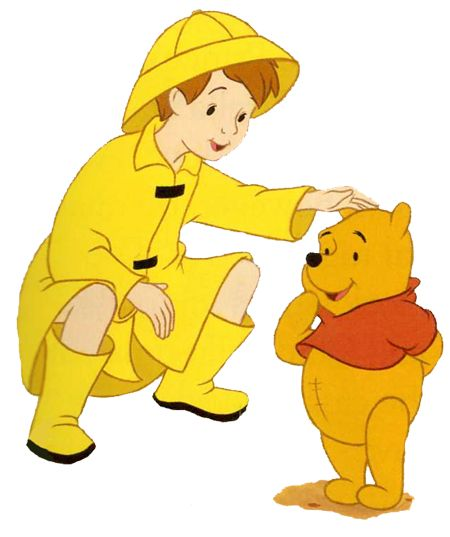 Winnie The Pooh Rain: Christopher Robin In His Rain Coat