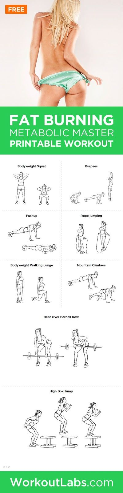 Fat Burning Metabolic Master Bodyweight HIIT Workout Pack | PIN GOOD
