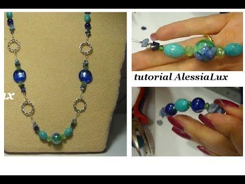 DIY tutorial collana estiva creata insieme - gioielli fai da te step by ...