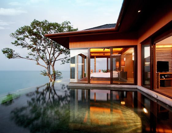 Sri Panwa, Phuket, Thailand; Andaman Sea; Infinity-Edge Pool and a awesome Bedroom-View!