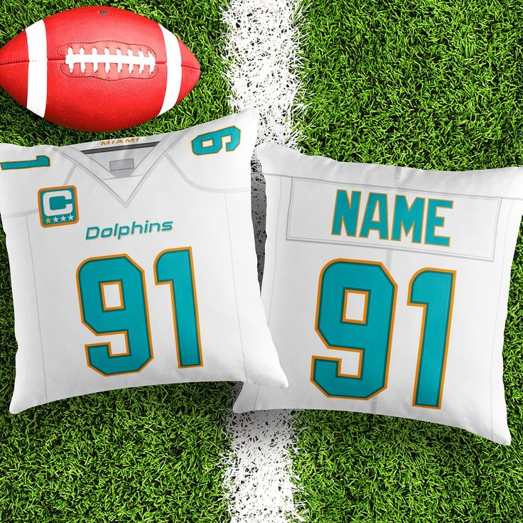 Personalised Miami Dolphins decorative Cushion Cover Fan inspired product Gift for boyfriend american football